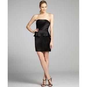 ABS Allen Schwartz Black Satin Dress